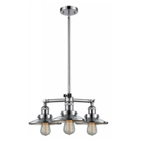 Innovations Lighting 207-PC-M7 Railroad 3 Light 19 inch Polished Chrome Chandelier Ceiling Light Franklin Restoration