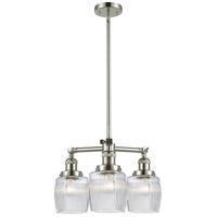 Innovations Lighting 207-PN-G302 Colton 3 Light 18 inch Polished Nickel Chandelier Ceiling Light Franklin Restoration