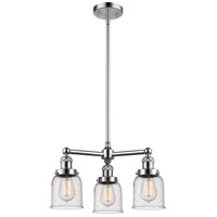 Innovations Lighting 207-PN-G54-LED Small Bell LED 19 inch Polished Nickel Chandelier Ceiling Light Franklin Restoration