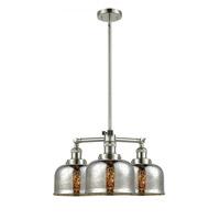 Innovations Lighting 207-PN-G78 Large Bell 3 Light 22 inch Polished Nickel Chandelier Ceiling Light Franklin Restoration