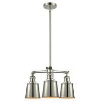Innovations Lighting 207-PN-M9 Addison 3 Light 19 inch Polished Nickel Chandelier Ceiling Light Franklin Restoration