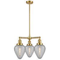 Satin Gold Glass Geneseo Chandeliers
