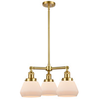 Satin Gold Steel Fulton Chandeliers