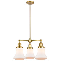 Innovations Lighting 207-SG-G191 Bellmont 3 Light 18 inch Satin Gold Chandelier Ceiling Light Franklin Restoration