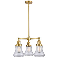 Innovations Lighting 207-SG-G192 Bellmont 3 Light 18 inch Satin Gold Chandelier Ceiling Light Franklin Restoration