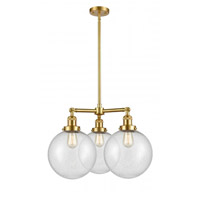 Innovations Lighting 207-SG-G204-10 X-Large Beacon 3 Light 24 inch Satin Gold Chandelier Ceiling Light Franklin Restoration