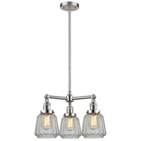 Innovations Lighting 207-SN-G142-LED Chatham LED 24 inch Brushed Satin Nickel Chandelier Ceiling Light