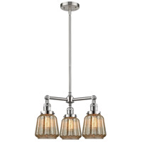 Innovations Lighting 207-SN-G146-LED Chatham LED 24 inch Brushed Satin Nickel Chandelier Ceiling Light Franklin Restoration
