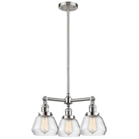 Innovations Lighting 207-SN-G172-LED Fulton LED 22 inch Brushed Satin Nickel Chandelier Ceiling Light Franklin Restoration