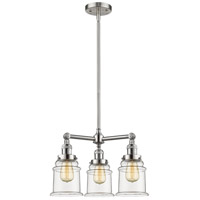 Innovations Lighting 207-SN-G182-LED Canton LED 18 inch Brushed Satin Nickel Chandelier Ceiling Light