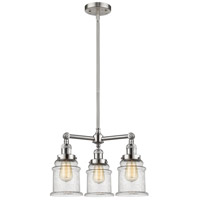 Innovations Lighting 207-SN-G184-LED Canton LED 18 inch Brushed Satin Nickel Chandelier Ceiling Light