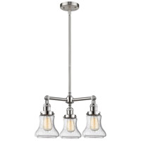 Innovations Lighting 207-SN-G194-LED Bellmont LED 18 inch Brushed Satin Nickel Chandelier Ceiling Light Franklin Restoration