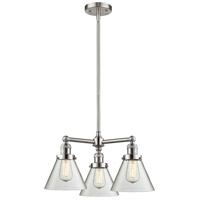 Innovations Lighting 207-SN-G42-LED Large Cone LED 22 inch Brushed Satin Nickel Chandelier Ceiling Light Franklin Restoration