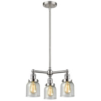 Innovations Lighting 207-SN-G54-LED Small Bell LED 19 inch Brushed Satin Nickel Chandelier Ceiling Light