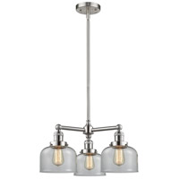 Innovations Lighting 207-SN-G72-LED Large Bell LED 22 inch Brushed Satin Nickel Chandelier Ceiling Light Franklin Restoration
