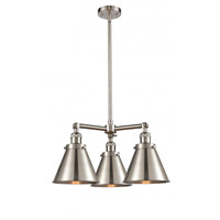 Innovations Lighting 207-SN-M13-SN-LED Appalachian LED 21 inch Brushed Satin Nickel Chandelier Ceiling Light Franklin Restoration