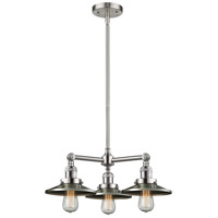 Innovations Lighting 207-SN-M2-LED Railroad LED 19 inch Brushed Satin Nickel Chandelier Ceiling Light Franklin Restoration