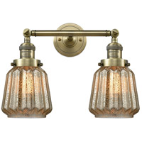 Innovations Lighting 208-AB-G146-LED Chatham LED 16 inch Antique Brass Bathroom Fixture Wall Light