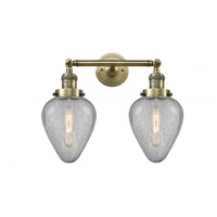 Innovations Lighting 208-AB-G165-LED Geneseo LED 17 inch Antique Brass Bath Vanity Light Wall Light Franklin Restoration
