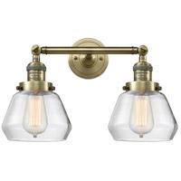 Innovations Lighting 208-AB-G172-LED Fulton LED 17 inch Antique Brass Bath Vanity Light Wall Light Franklin Restoration