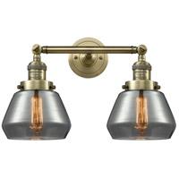 Innovations Lighting 208-AB-G173-LED Fulton LED 17 inch Antique Brass Bath Vanity Light Wall Light Franklin Restoration