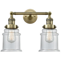 Innovations Lighting 208-AB-G182-LED Canton LED 17 inch Antique Brass Bath Vanity Light Wall Light Franklin Restoration