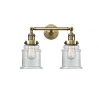 Innovations Lighting 208-AB-G182 Canton 2 Light 17 inch Antique Brass Bath Vanity Light Wall Light Franklin Restoration