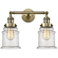 Innovations Lighting 208-AB-G184-LED Canton LED 17 inch Antique Brass Bath Vanity Light Wall Light Franklin Restoration