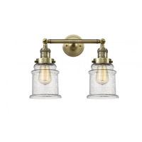 Innovations Lighting 208-AB-G184 Canton 2 Light 17 inch Antique Brass Bath Vanity Light Wall Light Franklin Restoration