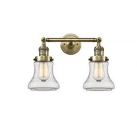 Innovations Lighting 208-AB-G192 Bellmont 2 Light 17 inch Antique Brass Bath Vanity Light Wall Light Franklin Restoration
