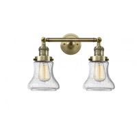 Innovations Lighting 208-AB-G194 Bellmont 2 Light 17 inch Antique Brass Bath Vanity Light Wall Light Franklin Restoration