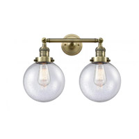 Innovations Lighting 208-AB-G204-8-LED Beacon LED 19 inch Antique Brass Bathroom Fixture Wall Light