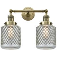 Innovations Lighting 208-AB-G262-LED Stanton LED 16 inch Antique Brass Bathroom Fixture Wall Light