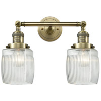 Innovations Lighting 208-AB-G302-LED Colton LED 16 inch Antique Brass Bathroom Fixture Wall Light