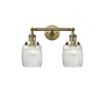 Innovations Lighting 208-AB-G302 Colton 2 Light 16 inch Antique Brass Bathroom Fixture Wall Light