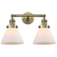 Innovations Lighting 208-AB-G41-LED Large Cone LED 18 inch Antique Brass Bath Vanity Light Wall Light Franklin Restoration