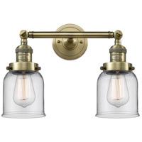 Innovations Lighting 208-AB-G52-LED Small Bell LED 16 inch Antique Brass Bath Vanity Light Wall Light Franklin Restoration