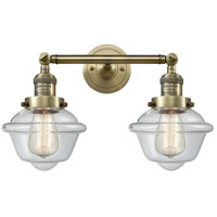 Innovations Lighting 208-AB-G532-LED Small Oxford LED 17 inch Antique Brass Bathroom Fixture Wall Light
