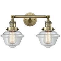 Innovations Lighting 208-AB-G532-LED Small Oxford LED 17 inch Antique Brass Bath Vanity Light Wall Light Franklin Restoration