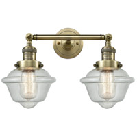 Innovations Lighting 208-AB-G534-LED Small Oxford LED 17 inch Antique Brass Bathroom Fixture Wall Light