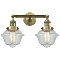 Innovations Lighting 208-AB-G534-LED Small Oxford LED 17 inch Antique Brass Bath Vanity Light Wall Light Franklin Restoration