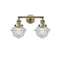 Innovations Lighting 208-AB-G534 Small Oxford 2 Light 17 inch Antique Brass Bathroom Fixture Wall Light