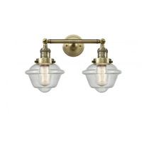 Innovations Lighting 208-AB-G534 Small Oxford 2 Light 17 inch Antique Brass Bath Vanity Light Wall Light Franklin Restoration