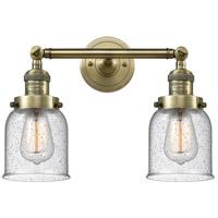 Innovations Lighting 208-AB-G54-LED Small Bell LED 16 inch Antique Brass Bath Vanity Light Wall Light Franklin Restoration