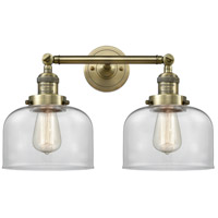 Innovations Lighting 208-AB-G72-LED Large Bell LED 19 inch Antique Brass Bath Vanity Light Wall Light Franklin Restoration