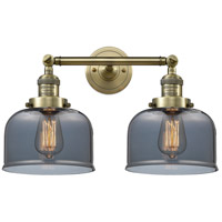Innovations Lighting 208-AB-G73-LED Large Bell LED 19 inch Antique Brass Bathroom Fixture Wall Light