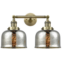 Innovations Lighting 208-AB-G78-LED Large Bell LED 18 inch Antique Brass Bathroom Fixture Wall Light