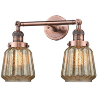 Innovations Lighting 208-AC-G146-LED Chatham LED 16 inch Antique Copper Bathroom Fixture Wall Light