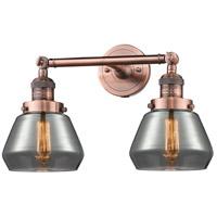 Innovations Lighting 208-AC-G173-LED Fulton LED 17 inch Antique Copper Bath Vanity Light Wall Light Franklin Restoration