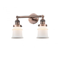 Innovations Lighting 208-AC-G181S-LED Small Canton LED 17 inch Antique Copper Bath Vanity Light Wall Light Franklin Restoration